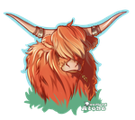 Ulric the highland cow by Atobe333