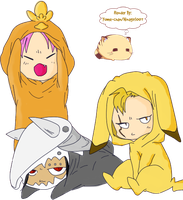 Chibi Dragon Slayers by hinagirl007
