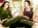 Some Casual Moment-frostiron fanart by alexzoe