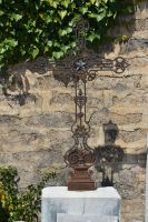Old cemetery cross and ivy by A1Z2E3R
