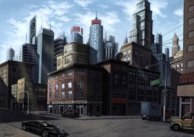 City Background Concept Art by aaronwty