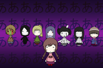 Yume Nikki Characters by 0Box-Ghost0