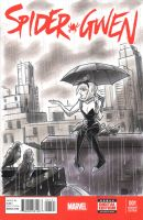 Spider Gwen Sketch Cover by timshinn73