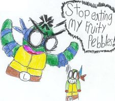Stop eating my Fruity Pebbles by Code-E
