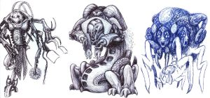 First Doodles of 2013 by jbrenthill