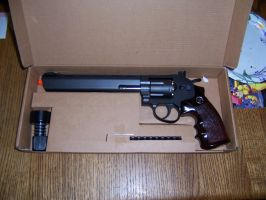 Airsoft Revolver I bought from Fanimecon!! by cwpetesch
