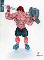 Dante the King of The Gym by MoonlightStrider