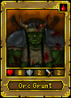 Orc Grunt card by Fagertveit