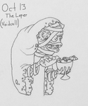 Inktober 13 the leper by Willdabeast-0305