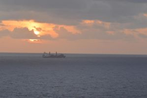 Caribbean Sunset, Chugging Along 3 by Miss-Tbones