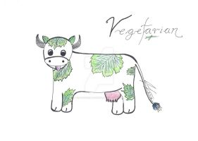 Portrait of a Vegetarian by beadsofcompassion