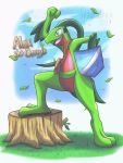 Alex the Grovyle! || Commission by Ppoint555