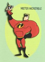 Pixar Madness Month - Day 1 - Mister Incredible by tyrannus