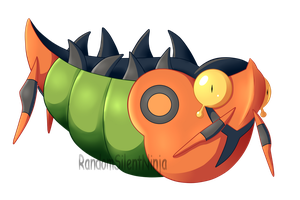 Poison Type Collab - Shiny Venipede