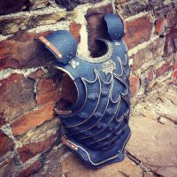 Blued Metal Paint Finish Armour by yeogybear
