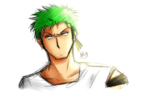 Sketchy Zoro by Smudgeandfrank