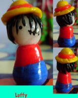Fimo Luffy by mooology