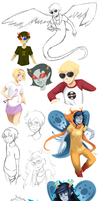 Homestuck dump by Anarkeru
