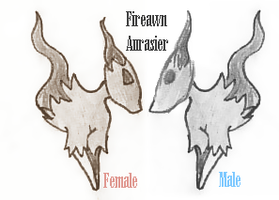 22 fakemon Male and female by Rena-Circa