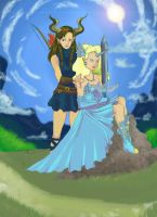 Princess Brittany and the Horned Knight. by Midori-Valentine