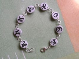 Bracelet with custom name fimo by bimbalove81