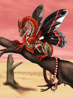 Commission - Cecropia Dragon by Cryophase