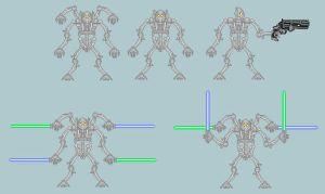 General Grievous sprites by NeoMetalSonic360