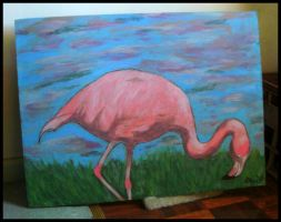 Pink Flamingo by WithinItAll