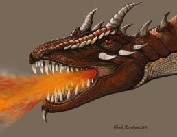 Red Dragon Portrait by ChuckRondeau
