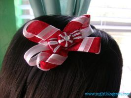 Peppermint Candy Bow by SugiAi