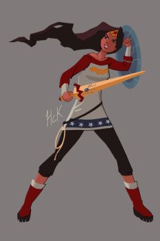 Wonder Woman New Style by artist2point5