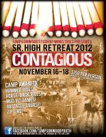 Contagious Retreat Flyer by Treybacca