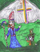 St. Patrick and a Leprechaun by SonicClone