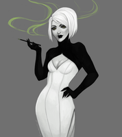 Human GLaDOS by tamarussia