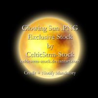 Glowing Sun PNG  by CelticStrm-Stock by CelticStrm-Stock