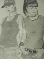 Ziva and Abby of NCIS by piperhalliwell07