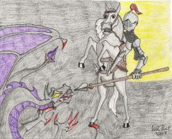St. George and the Dragon by Bladefinger