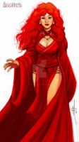 The Red Priestess Melisandre by mattolsonart