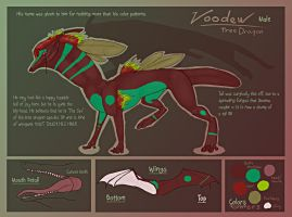 Voodew Tree Dragon ref. sheet by Anarchpeace