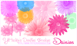 Daisies Brush Set by yettezkiedoodle