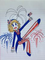 Happy Fourth of July by Winged-CatGirl-Kin