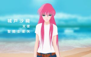 Saori in the beach by poderheavy