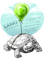 Larry the Chrome Turtle by Kiboku