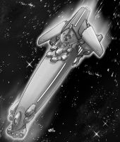 Spacehip Concept Claymore by natebarnes