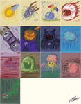 Terraria Monsters Nov Drawing by Xothex