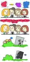 Mass Effect FRIENDS 2 by sillyshepard