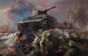 Tiger Tank Attack by LotharZhou
