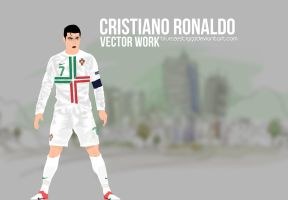 Cristiano Ronaldo Vector by bluezest1997