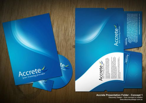 Accrete Presentation Folder by macca002
