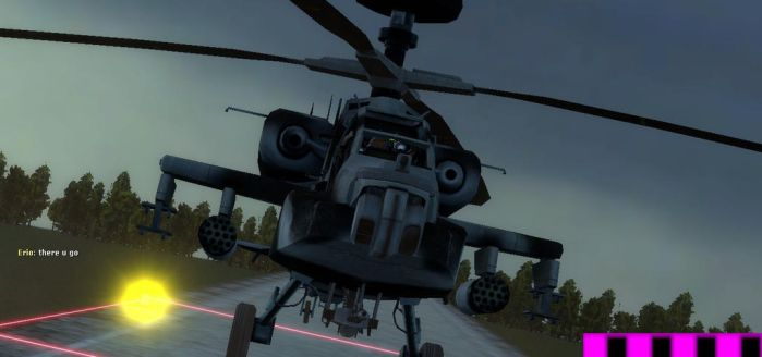 {Gmod} Watching ben-k8 land a attack chopper by aquadesrtoyer
